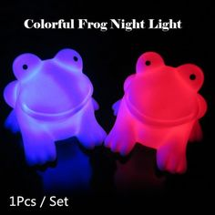 Share and Get It FREE Now | Join Gearbest |   Get YOUR FREE GB Points and Enjoy over 100,000 Top Products,Energy Magic LED Cute Frog Night Light Novelty Lamp Changing Colors Colorful Nightlight Lamp Flashing Toy P4PM