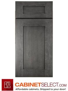 Buy Greystone Shaker Kitchen Cabinets - RTA Cabinets by CabinetSelect Forevermark Greystone Shaker S Shaker Kitchen Cabinets, Kitchen Cabinet Doors, Veneer Door, Base Moulding, Cabinet Styles, Shaker Style, Cool Kitchens, Tall Cabinet Storage, Kitchen Inspiration