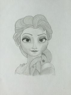 Frozen Queen Elsa Drawing