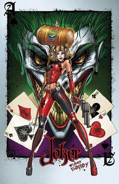 Joker & Haley by Jaime Tyndall