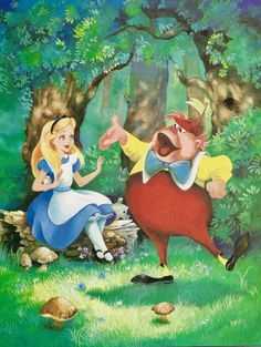 "themadkiwi: "" Franc Maleu and Holly Hannon's illustrations for Teddy Slater's 1995 Illustrated Classic adaptation of Walt Disney's Alice in Wonderland. Part 1 "" Disney Love, Disney Magic, Disney Art, Disney Pixar, Walt Disney, Disney Characters, Pinocchio Disney, Alicia Wonderland, Alice In Wonderland 1951"