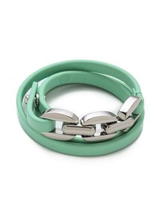 Tory Burch Chain & Leather Triple Wrap Bracelet | Wantering Trends – Spring 2013 | #wanteringtrends go to http://springtrends2013.wantering.com/ for more!