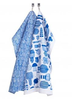 Puutarhurin parhaat/Vellamo tea towels by Marimekko — zanders and sons Dish Towels, Tea Towels, Love Blue, Blue And White, Color Blue, Kitchen Linens, Kitchen Towels, Kitchen Goods, Blue Towels