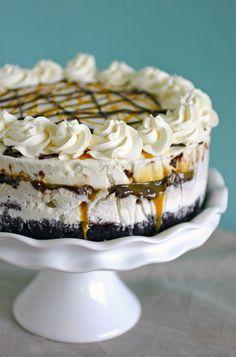 Chocolate Covered Banana Ice Cream Cake