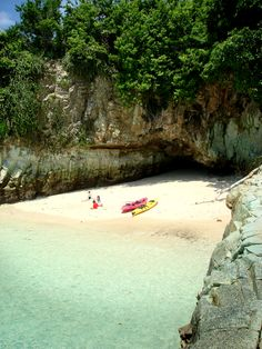 Kayaking. Amazing beach in Panama.