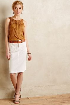 #anthrofave Mother Denim Pencil Skirt - anthropologie.com