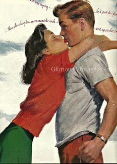 vintage romance illustrations 1940