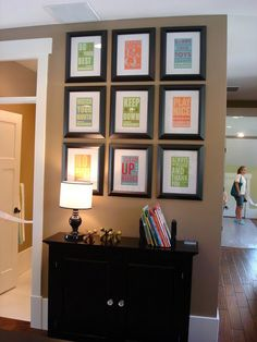 Rules of the house are framed :) a great idea for fab dorm rooms!