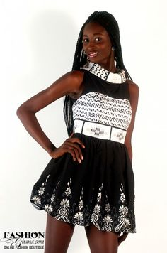 dShafto Roll Neck Dress in Black & White | FashionGHANA.com (100% African Fashion)FashionGHANA.com (100% African Fashion)