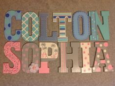letters i painted for a coworkers twins
