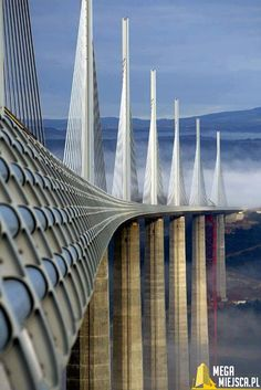 The tallest bridge in the world - the Millau Bridge, France