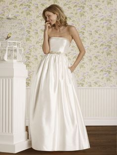 The Steven Birnbaum Collection- Darcy wedding gown, available at Something White, A Bridal Boutique