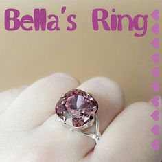 Bella's Ring in Swarovski crystal