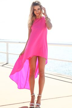 Hot Pink Dress - Skater Dress - Fit-and-Flare Dress - $48.00 ...