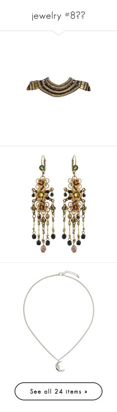 """jewelry #8💎💍"" by booknerd1326 ❤ liked on Polyvore featuring jewelry, necklaces, accessories, dolls, earrings, jewels, aros, brass jewelry, beaded jewelry and beaded earrings"