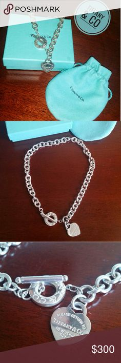 Tiffany & Co Heart Toggle Necklace This Tiffany & Co Heart Toggle Necklace comes with original box and pouch.  Excellent condition , worn a few times . Has normal wear.   Great piece for any outfit  If u need more photos , just ask  Tiffany & Co. Jewelry Necklaces