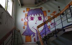 Street-Art im Zollamt von Leipzig