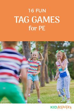 A collection of  fun tag games for kids. Great for PE, the park, or in the backyard. #KidActivities #KidGames #ActivitiesForKids #FunForKids #IdeasForKids Games For Kids Classroom, Gym Games For Kids, Games For Toddlers, Fun Activities For Kids, Fun Games, Outdoor Games For Kids, Outdoor Gym, Game Ideas, Activity Ideas