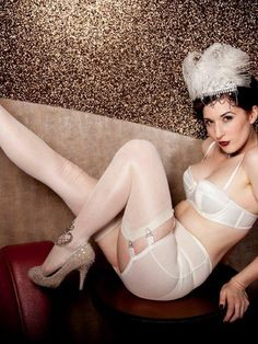 Vargas Roll On Girdle in Ivory - Kiss Me Deadly Bridal lingerie