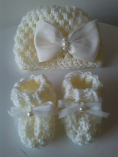 infant hat and booties