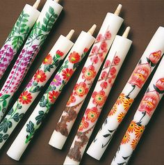 Japanese traditional art candle