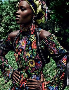 Lupita Nyong'o by Mario Testino for US Vogue, October Issue 2016. - I  All shot in Ratta in Kenya, her home village.