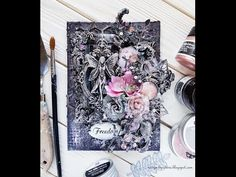 HOW TO MAKE A MIXED MEDIA CAVAS WITH LOTS OF TEXTURE - YouTube