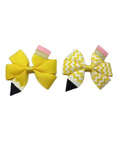 Look at this Lucky Cat Headwear Pencil Hair Bow Set on #zulily today!