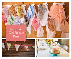 Little House on the Prairie type themed party..very cute!!