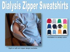 Dialysis Zipper Sweatshirt. $30.00, via Etsy. Jeanie Rini