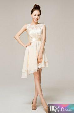 Sweetheart Knee-length Chiffon Lace Wedding Party / Bridesmaid Dress - Wedding & Events