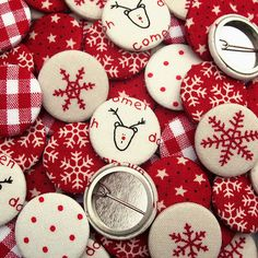 Christmas Fabric Badges