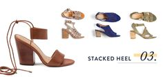Characterized by a thick, layered wood (or faux wood) heel & a sturdy ankle strap, these shoes offer more stability than your typical stiletto (read: you can actually walk in them—even on brick or lawn).