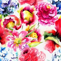 красивые цветы на фоне акварель, акварель цветы, фоновое изображениеИзображение PNG