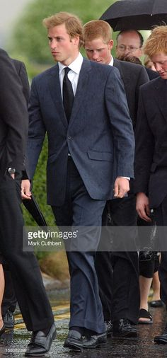 Prince William & Prince Harry Attend The Funeral Of Frances Shand Kydd At St Columba'S Cathedral In Oban, Scotland. .