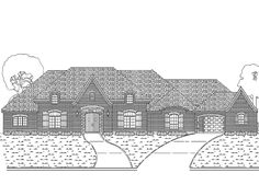 Tudor House Plan with 4046 Square Feet and 4 Bedrooms(s) from Dream Home Source | House Plan Code DHSW63599