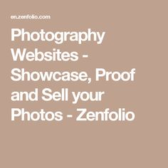 Photography Websites - Showcase, Proof and Sell your Photos - Zenfolio