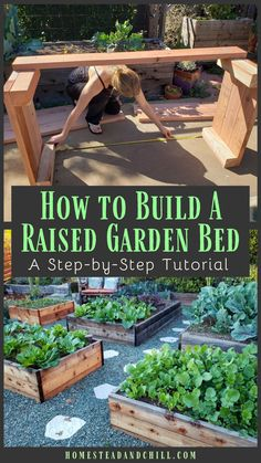 How To Design Build A Raised Garden Bed Come Learn Everything You Need To Know To Build A Durable And Beautiful Raised Garden Bed Including Location Design Supplies Needed And Wood Types With These Step By Step Instructions And A Tutorial Video Too Organic Horticulture, Organic Gardening, Gardening Tips, Vegetable Gardening, Flower Gardening, Building Raised Garden Beds, Pot Jardin, Garden Types, Growing Vegetables