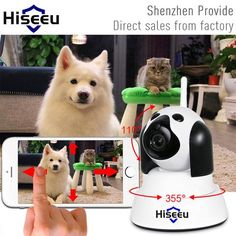 Smart Dog wifi Camera Surveillance 720P Night Vision CCTV Indoor Baby Monitor  ONLY $49.99 TODAY Order here : eBucket.org Worldwide Free Shipping.  Smart Dog Cat wifi Camera Surveillance 720P Night Vision CCTV Indoor Baby Monitor.   Home is more close now.  ------------------------------------------------------------   ☆ Horizontal angle 355 degree and 110 vertical degree monitor every corner under home surveillance camera.  ☆ IP Security Camera-Two way voice talking,