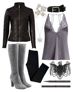 """""""Captain Marvel #1"""" by avenueg ❤ liked on Polyvore featuring L'Autre Chose, Fleur of England, Badgley Mischka, J Brand, Bloomingdale's, Sara Weinstock, rag & bone, Steve Madden and Burberry"""