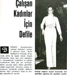 çalışan kadınlar için defile 1967 Hayat Dergisi #nostalji #Istanbul #istanlook