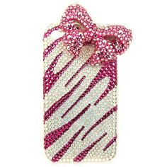 sweet bow swarovski elements crystal Iphone 5/4s/4 Samsung Galaxy S3/Note2 cases cover