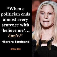Streisand chimes in