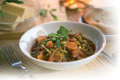 zuppa di lenticchie con Ristretto di Aceto Balsamico e Spremuta d'Oliva VOM FASS