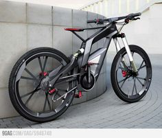 Audi has officially unveiled its 'Wörthersee' performance electric bike for sports and trick cycling. Using technology from Audi cars, the 'Wörthersee' electric bike Bmx, Best Electric Bikes, Electric Bicycle, Electric Motor, Velo Design, Bicycle Design, Motorcycle Design, Photo Velo, Bike Photo
