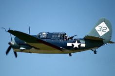 Much like the Dauntless, the Curtis Helldiver was primarily a dive bomber that also served as an effective fighter plane. Here you can see its rear-facing machine gun.