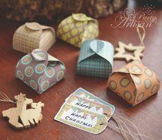 Printable gift boxes -The Party Artisan