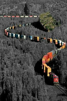 train = tren :) *Canadian Pacific Railway - My Dad and Granddad were railroad engineers - Love me some trains. Grande Route, U Bahn Station, Canadian Pacific Railway, Beautiful Places, Beautiful Pictures, Amazing Places, Foto Poster, Train Pictures, Old Trains