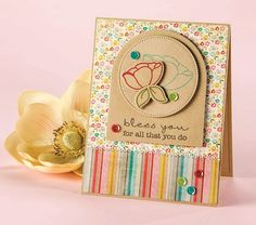 Bless You by Lori Craig from CardMaker's special-interest issue Easy Layered Greeting Cards