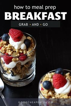 Your crazy mornings can be a little less hectic with our meal prep breakfasts. We're sharing our best recipes for having a great breakfast ready to go (and your family will love them!) Homemade Muffin Mix, Homemade Muffins, Homemade Breakfast, Breakfast Sandwich Recipes, Breakfast Cookies, Easy Weekday Meals, Easy Dinners, Easy Baking Recipes, Quick Snacks